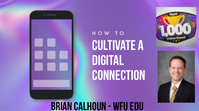 Picture of how to Cultivate a digital connection with Brian Calhoun