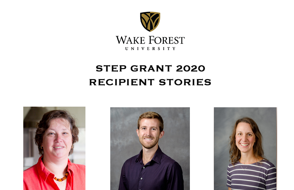 photos of the three Step Grant recipients